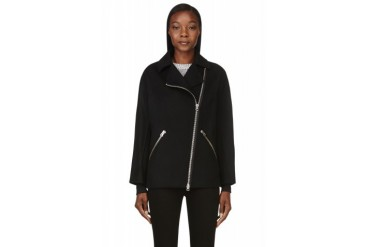 Acne Studios Black Wool And Cashmere Envier Double Jacket
