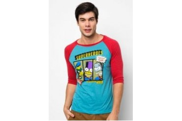 The Simpsons @ urban TEE Superheroes Raglan Tee