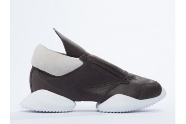 Adidas Originals X Rick Owens Runner in Dark Dust White Leather size 10.0