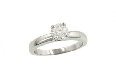 1 Carat Diamond Solitaire 14k White Gold Engagement Ring!