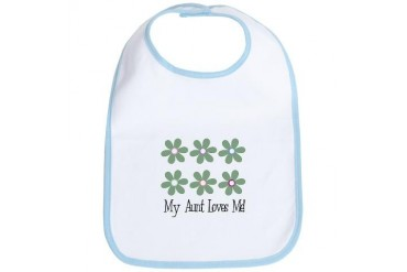 My Aunt Loves Me Baby Retro Bib by CafePress