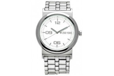 Gun Metal Watch with White Dial