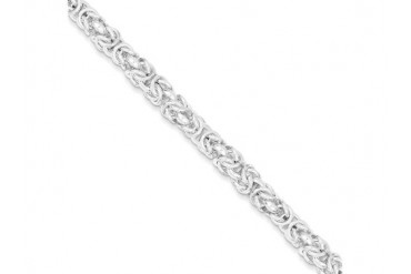 Sterling Silver 7.5inch Polished Fancy Link Toggle Bracelet