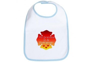 My Grandpa Is A Firefighter Firefighter Bib by CafePress