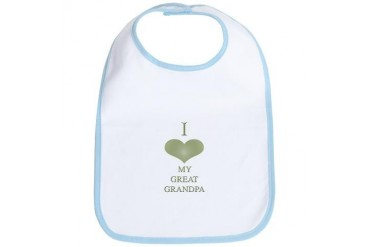 I love heart great grandpa sage Baby girl Bib by CafePress
