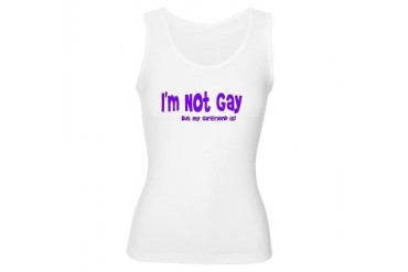 I'm Not Gay.. But.. Lesbian Women's Tank Top by CafePress