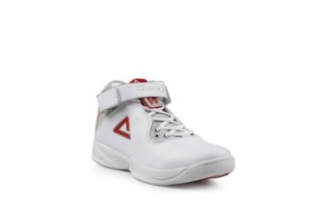 PEAK White Red Male Basketball Shoes