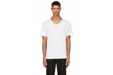 T By Alexander Wang White Classic Scoopneck T shirt