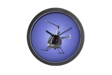 Helicopter Gifts Home amp; Office Gift Cool Wall Clock by CafePress
