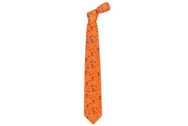 Going on Vacation Apricot Printed Silk Tie