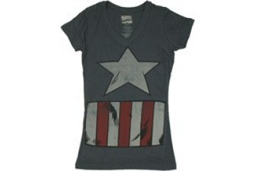Marvel Comics Captain America Vintage Suit Costume Baby Doll Tee