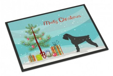 Giant Schnauzer Merry Christmas Tree Indoor or Outdoor Mat 24x36