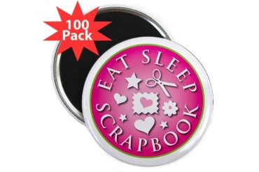 Eat Sleep Scrapbook Hobbies 2.25 Magnet 100 pack by CafePress
