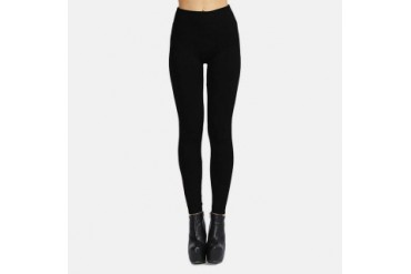 3 Pairs Black Fleece-Lined Seamless Leggings