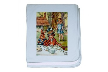 Mad Hatter's Tea Party Baby baby blanket by CafePress