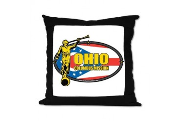Ohio Columbus LDS Mission Clothing T-Shirts and Gi Gifts Suede Pillow by CafePress