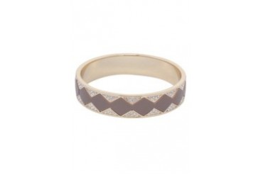 House Of Harlow 1960 Sunburst Bangle Leather N White Pave