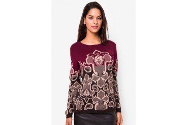 Triset Ladies Long Sleeve Flat Knit Sweater