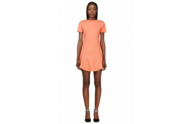 Carven Coral Dropped Waist Dress