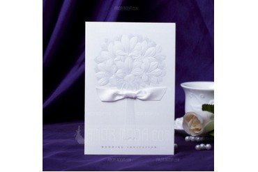 Classic Style Side Fold Invitation Cards With Ribbons (set of 50) (114031562)