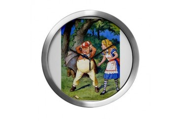 Alice and Tweedle Dum Baby Modern Wall Clock by CafePress