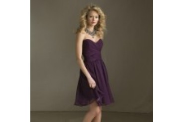 "Angelina Faccenda ""In Stock"" Eggplant Dress - Style 204110"