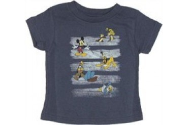 Disney Chalk Stripes Characters Toddler T-Shirt