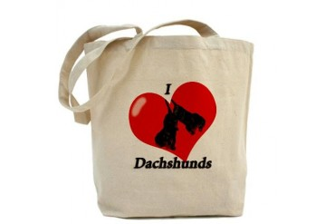 'I Heart Dachshunds' Dachshund Tote Bag by CafePress