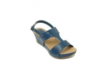Blue Britanny Wedges Sandals