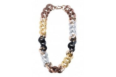 Saturation Multi Tone Chunky Chain Necklace