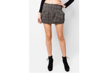 VnJ Printed Short Skirt