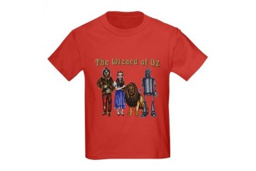 Wizard of Oz Group Photo Kids Dark T-Shirt