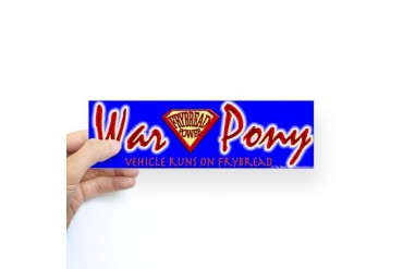War Pony Bumper Sticker Car Sticker Bumper by CafePress