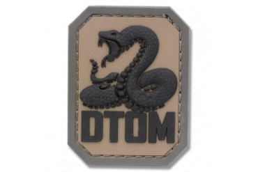 "Mil-Spec Monkey ""Don't Tread On Me"" Rubber Patch - Acu Dark"