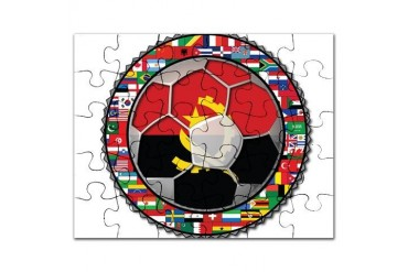 Angola Flag World Cup Football Soccer No Labels Pu Soccer Puzzle by CafePress