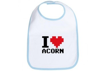 I Heart Acorn Retro Bib by CafePress