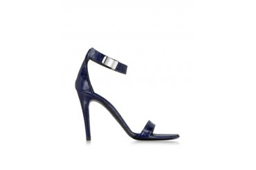 Night Blue Printed Leather Sandal