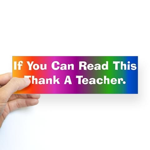 Funny Teacher Bumper Stickers