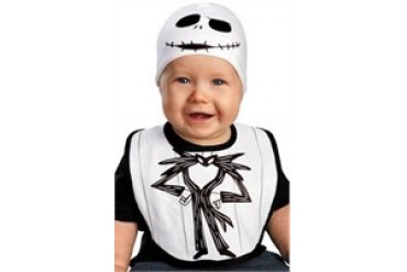 Nightmare Before Christmas Jack Skellington Bib and Beanie Hat Infant Costume