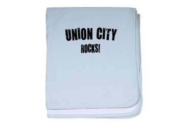 Union City Nj Rocks New jersey baby blanket by CafePress