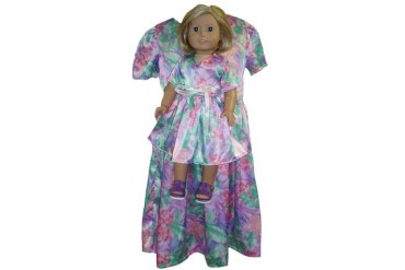 Matching Shiny Dress for Girls And Dolls Size 7