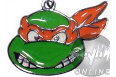Teenage Mutant Ninja Turtles Michelangelo Head Metal Keychain