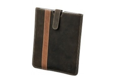 Leather slip cover for iPad - Hunter stripe Case