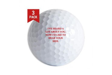 you Funny Golf Balls by CafePress