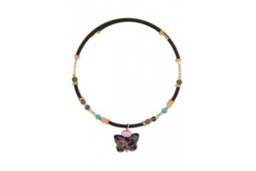 Murano Butterfly Slip On Necklace