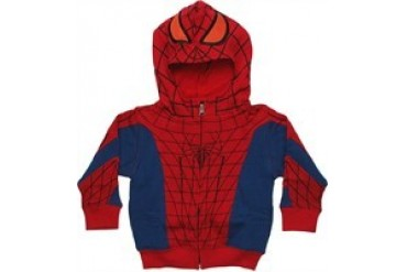 Marvel Comics Amazing Spider-Man Costume Full Zipper Hooded Toddler Sweatshirt