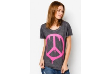CATWALK 88 Peace Printed T-Shirt