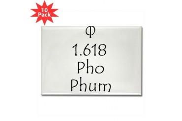 Phee Phi Pho Phum Math Rectangle Magnet 10 pack by CafePress