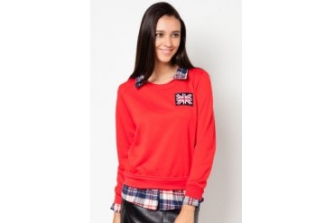 VnJ Long Sleeves Knitwear With Fake Collar