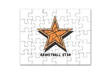 basketball star copy.jpg Sports Puzzle by CafePress